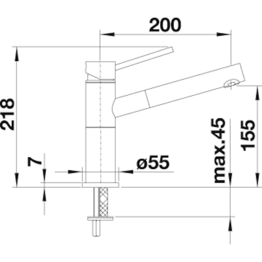 Blanco Küchenarmatur »ALTA-S Compact«, Niederdruck, mit ausziehbarem Auslauf