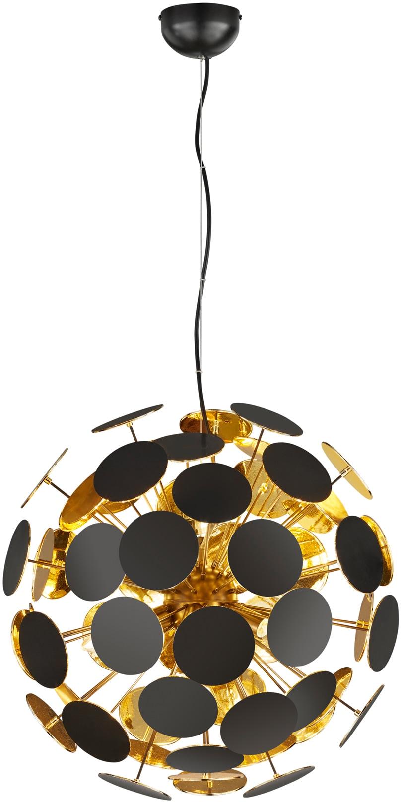 TRIO Leuchten Pendelleuchte Discalgo, E14, Hängeleuchte, Hängelampe, Leuchtmittel tauschbar