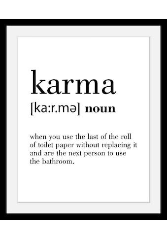 queence Bild »Karma«, in 3 Größen, gerahmt kaufen