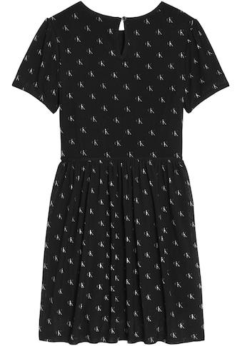 Calvin Klein Jeans Sommerkleid »MINI MONOGRAM AOP MESH DRESS«, mit Logodrucken kaufen