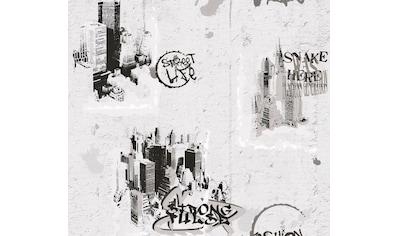 living walls Papiertapete »Boys & Girls«, mit Graffiti, umweltfreundlich kaufen