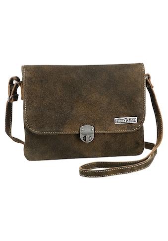 Trachtentasche, aus Veloursleder im Used-Look kaufen
