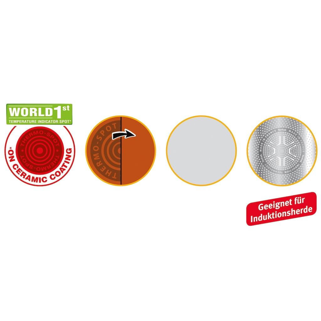 Tefal Wok »CeramicControl White«, Leichtmetall, (1 tlg.), Induktion