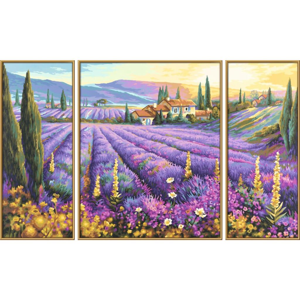 Schipper Malen nach Zahlen »Meisterklasse Triptychon Lavendelfelder«, Made in Germany