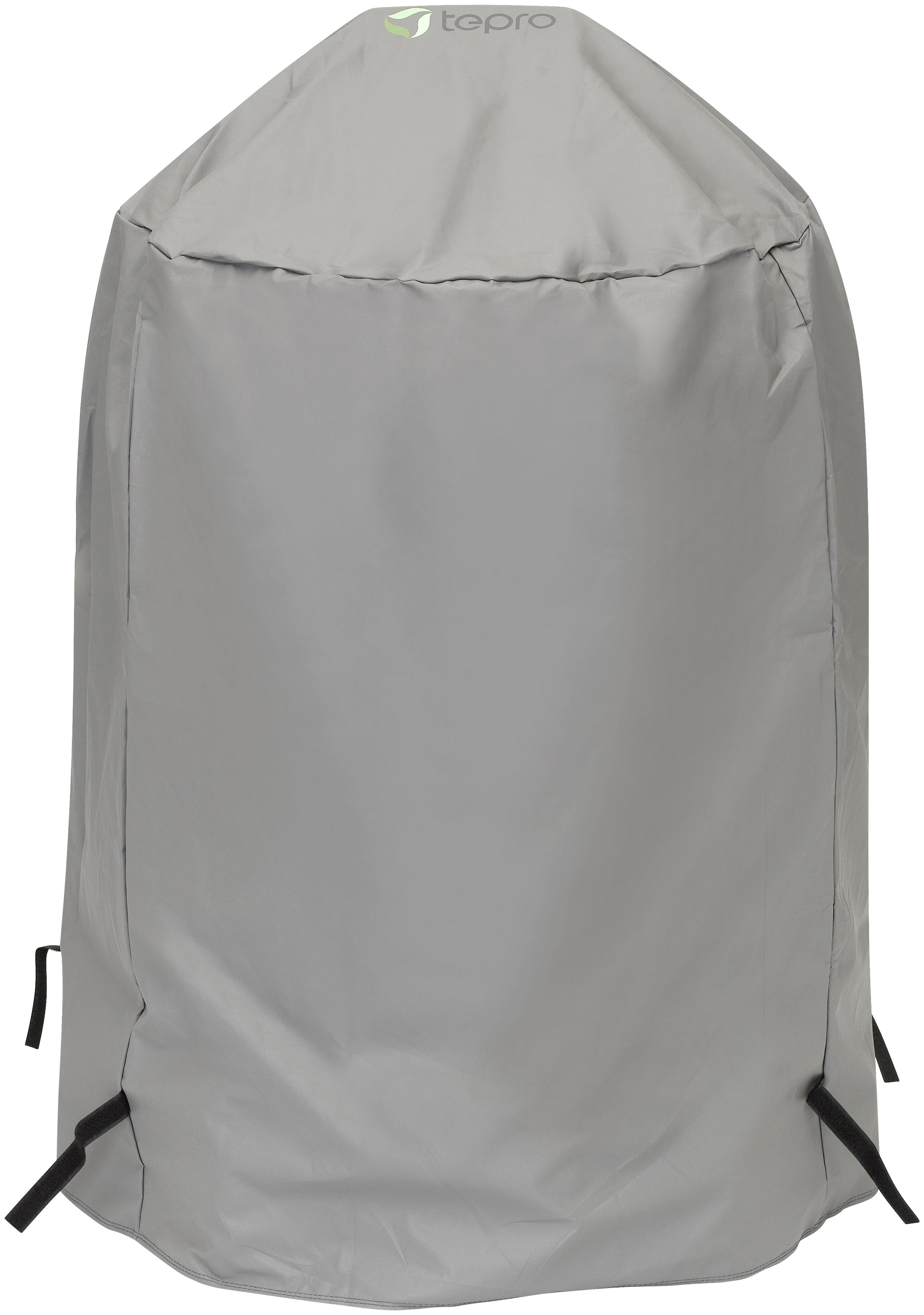 Tepro Grill-Schutzhülle, BxLxH: 90x73x90 cm, für Kugelgrill groß grau Zubehör Grills Garten Balkon Grill-Schutzhülle
