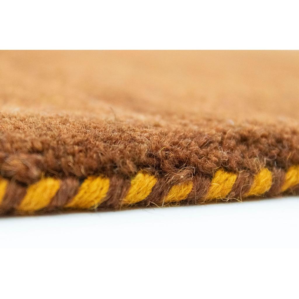 morgenland Wollteppich »Gabbeh Teppich Agra«, quadratisch, 14 mm Höhe, Kurzflor