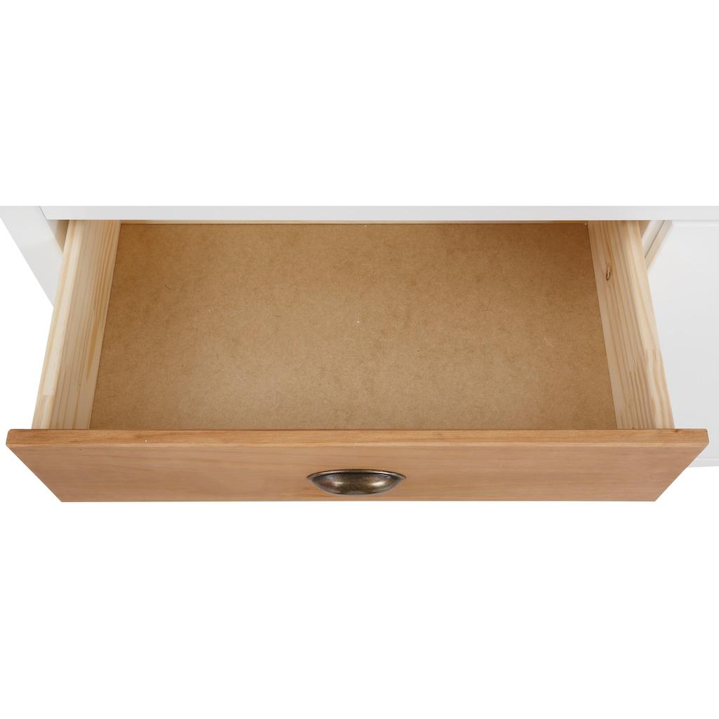 Home affaire Sideboard »Fridau«, aus massivem Kiefernholz, mit Muschelgriffen, Breite 140 cm