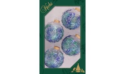 Krebs Glas Lauscha Weihnachtsbaumkugel »CBK70498«, (Set, 4 St.), mit buntem Glittermix kaufen