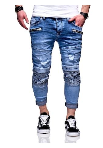 behype Slim-fit-Jeans »PHARREL«, mit coolen Reißverschluss-Elementen kaufen