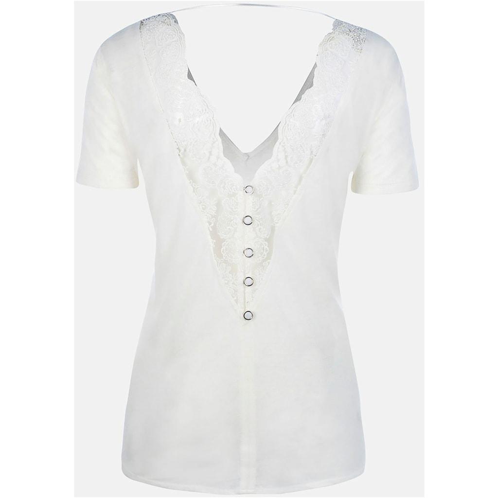 Kaporal Spitzenshirt »PRESS«, mit Spitze und großem Rückenausschnitt