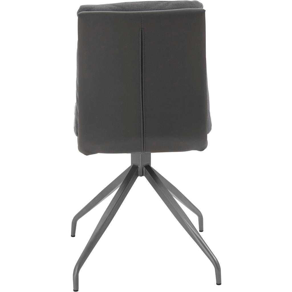Homexperts Stuhl »Horizon«, (2 Stück), Bezug in Kunstleder und Webstoff