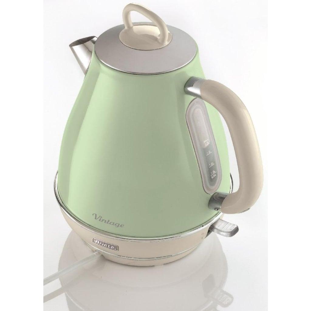 Ariete Wasserkocher »Vintage 2869 grün«, 1,7 l, 2200 W