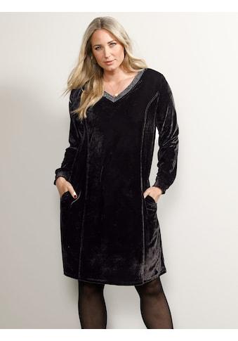 MIAMODA Samtkleid, mit streckendem V-Ausschnitt kaufen