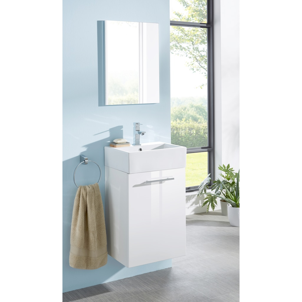 Oristo Badmöbel-Set »Epsilon«, (3 St.), Badmöbel-Set mit Spiegel, Waschbecken und Waschbeckenunterschrank