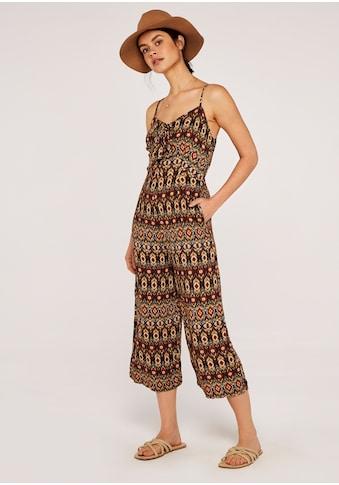 Apricot Jumpsuit »Tie Front Tribal Jumpsuit«, mit Schleife am Ausschnitt kaufen