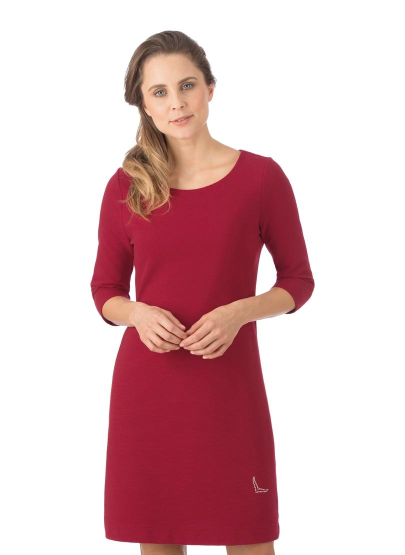 Trigema Kleid mit Swarovski Kristallen rot Damen Knielange Kleider