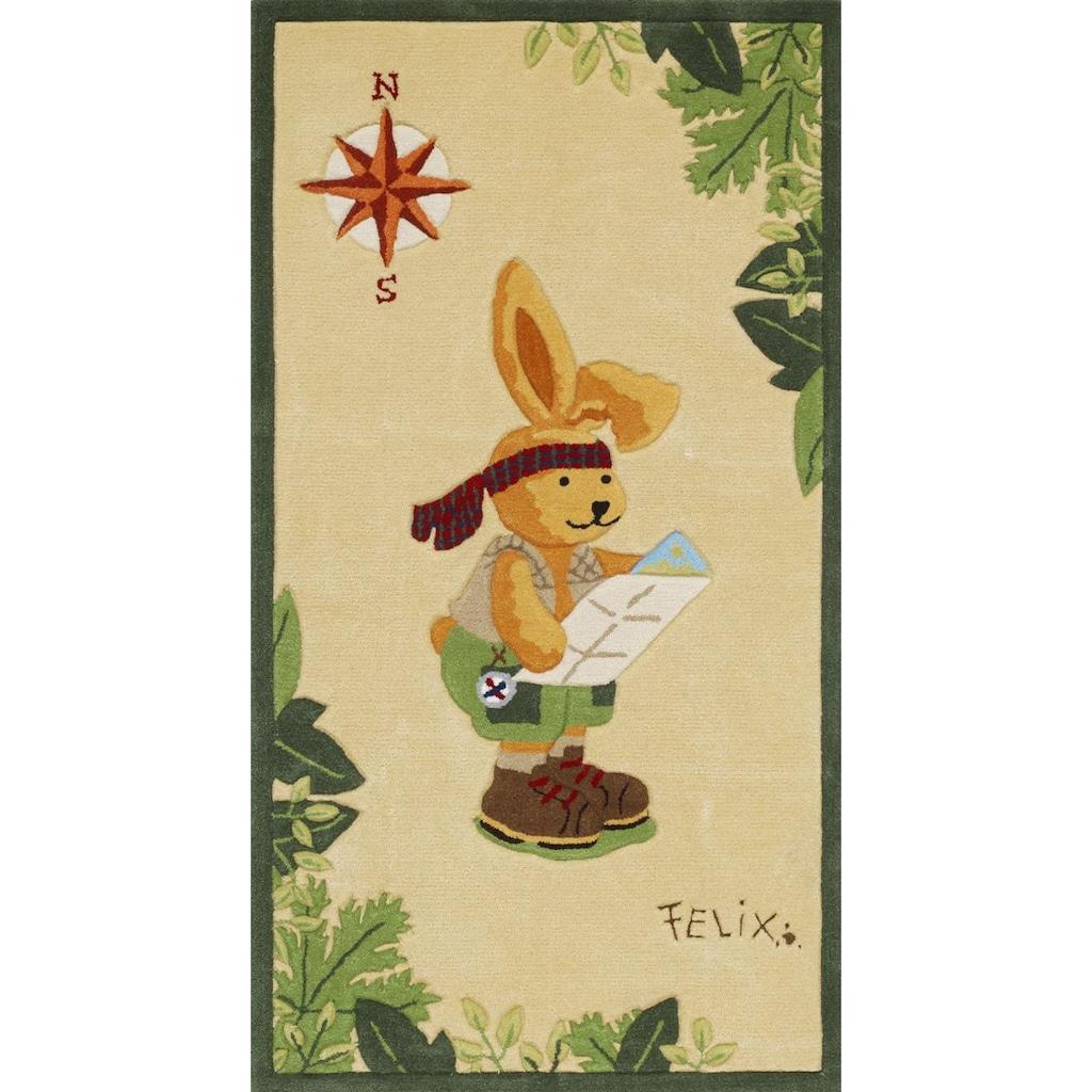 Felix der Hase Kinderteppich »Felix der Hase 2192«, rechteckig, 10 mm Höhe