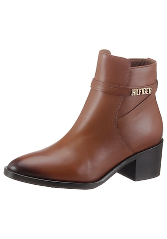 TOMMY HILFIGER Stiefelette »BLOCK BRANDING LEATHER MID BOOT« kaufen