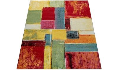 Paco Home Teppich »Canvas 783«, rechteckig, 16 mm Höhe, Kurzflor mit buntem Karo Design, Wohnzimmer kaufen