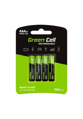 Green Cell Batterie »4x Akkumulator AAA HR03 950mAh«, Akkus Batterien,... kaufen