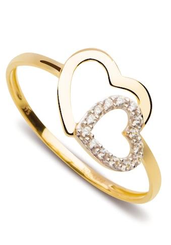 NANA KAY Goldring »Gold, Herzen, FG062S«, mit Zirkonia (synth.) kaufen