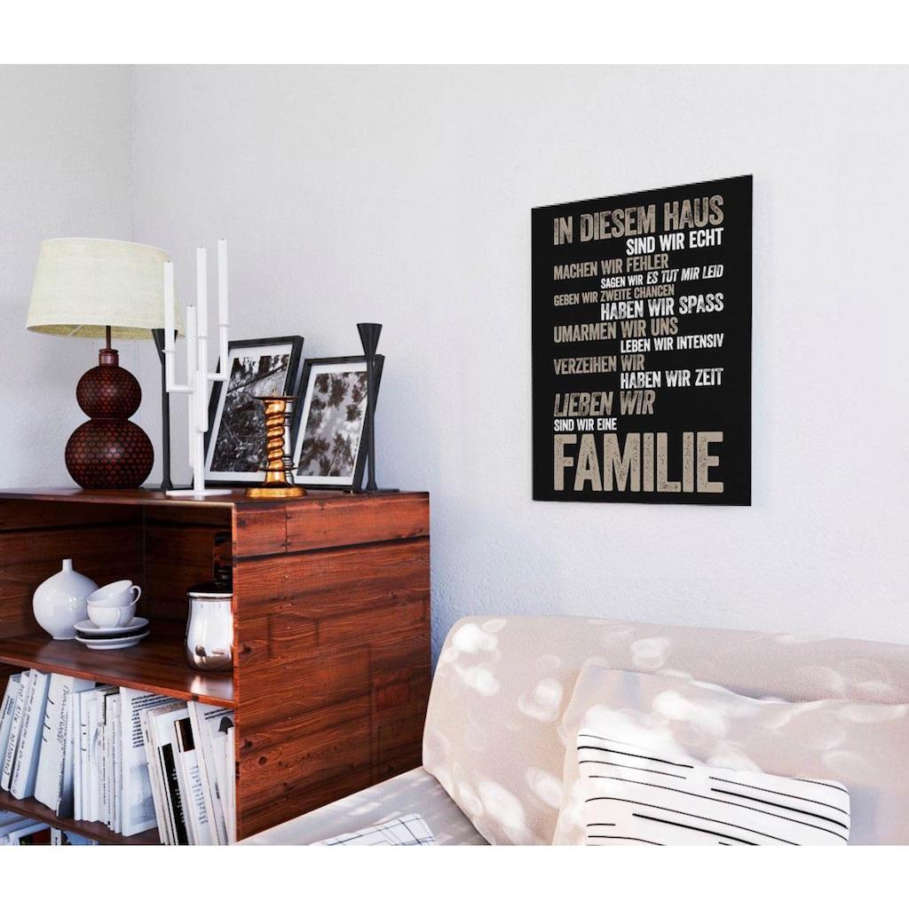 Home affaire Deco-Panel »In diesem Haus...«