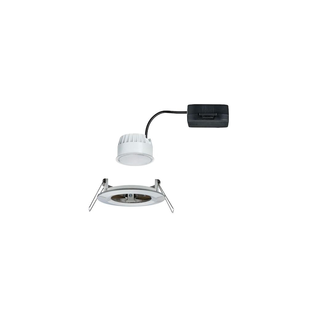 Paulmann LED Einbaustrahler »Nova rund 1x6,5W Eisen gebürstet starr«, Warmweiß