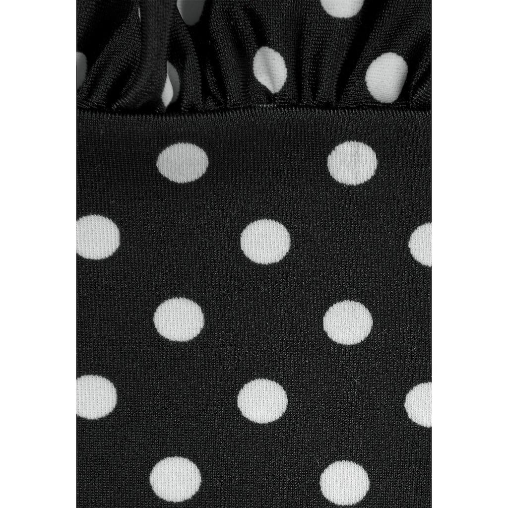 LASCANA Oversize-Tankini, im modischen Pünktchen-Design