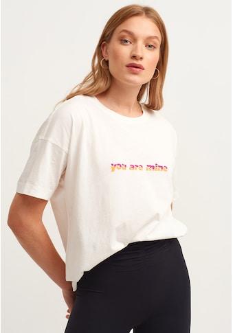 OXXO Rundhalsshirt, mit weiter Form kaufen