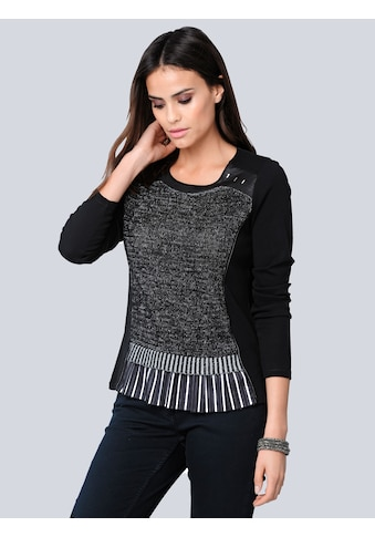 Alba Moda Langarmshirt, mit effektvollem Saumabschluss kaufen