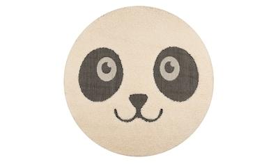 Kinderteppich, »Panda Pete«, Zala Living, rund, Höhe 22 mm, maschinell gewebt kaufen