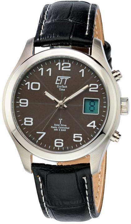 ETT Funkuhr EGS-11330-50L | Uhren > Funkuhren | Schwarz | Ett