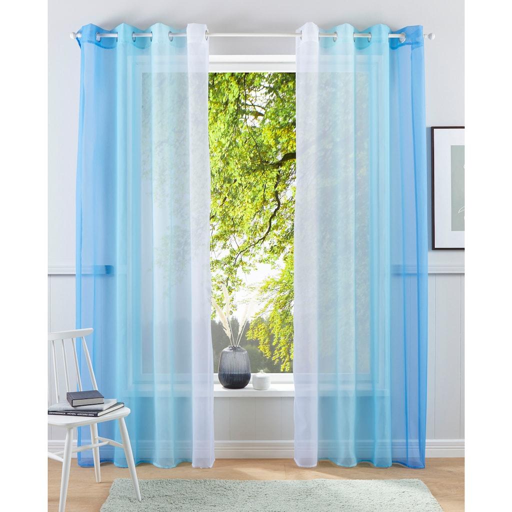 my home Gardine »Valverde«, Vorhang, Fertiggardine, transparent