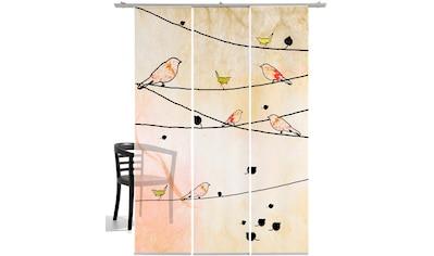 Schiebegardine, »Crazy Birds«, emotion textiles, Klettband 3 Stück kaufen