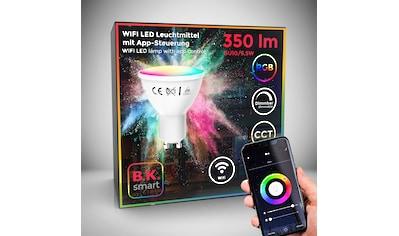 B.K.Licht LED-Leuchtmittel, GU10, 1 St., Farbwechsler, Smart Home LED-Lampe RGB WiFi App-Steuerung dimmbar CCT Glühbirne 5,5W 350 Lumen kaufen