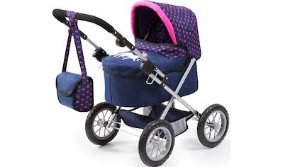Bayer Puppenwagen »Trendy, blau/Einhorn«, mit Wickeltasche kaufen