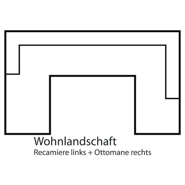 Home affaire Wohnlandschaft »Palmera«, Federkern, wahlweise mit Bettfunktion und mit/ohne Bettkasten