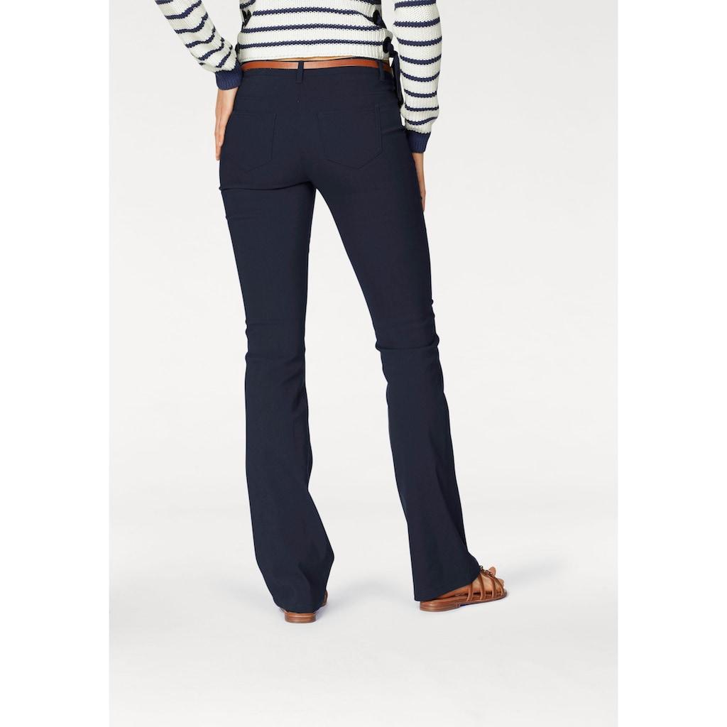 AJC Stretch-Hose, aus pflegeleichter Bengalin-Qualität mit Schlag