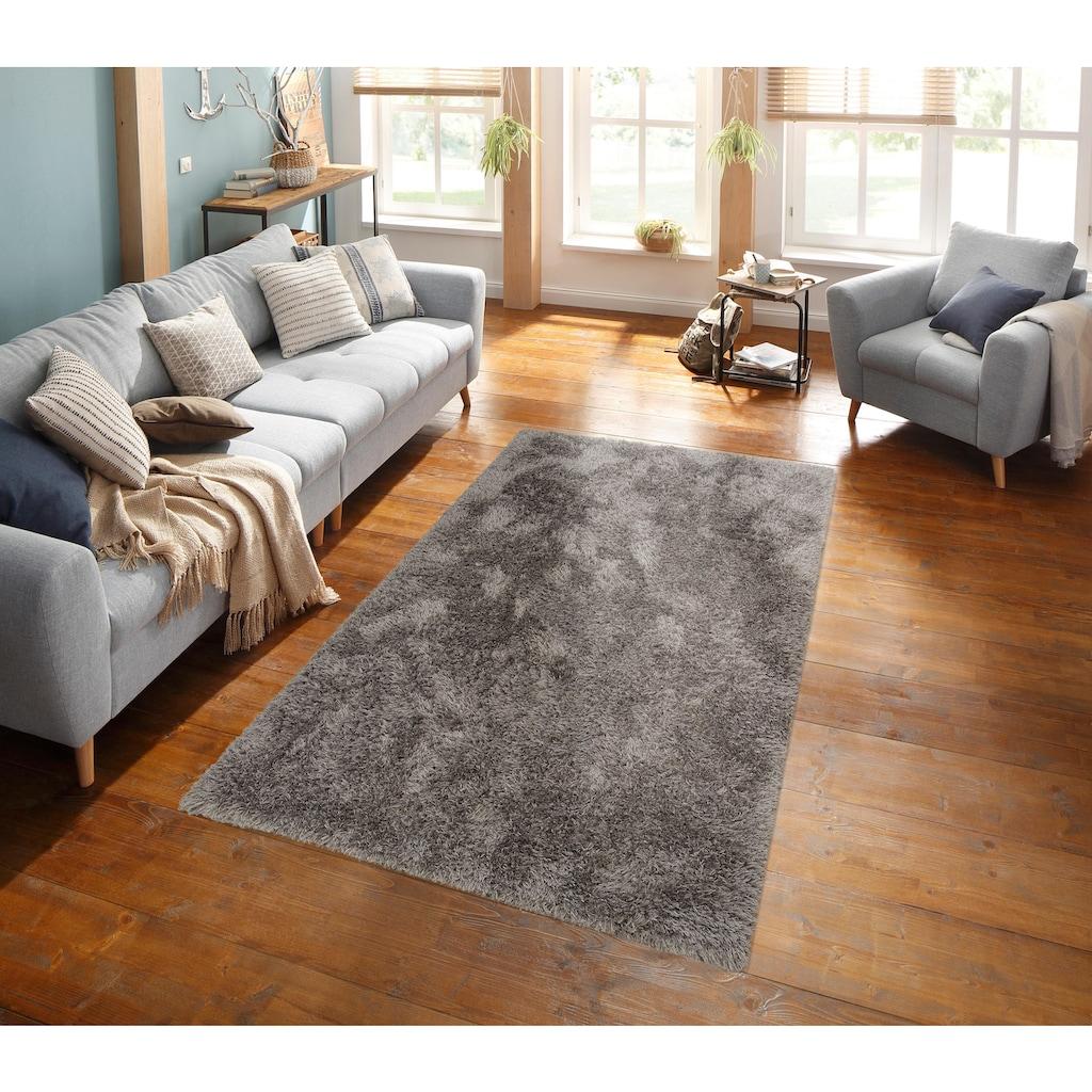 merinos Hochflor-Teppich »Floki 861«, rechteckig, 70 mm Höhe, besonders weich durch Microfaser, Wohnzimmer