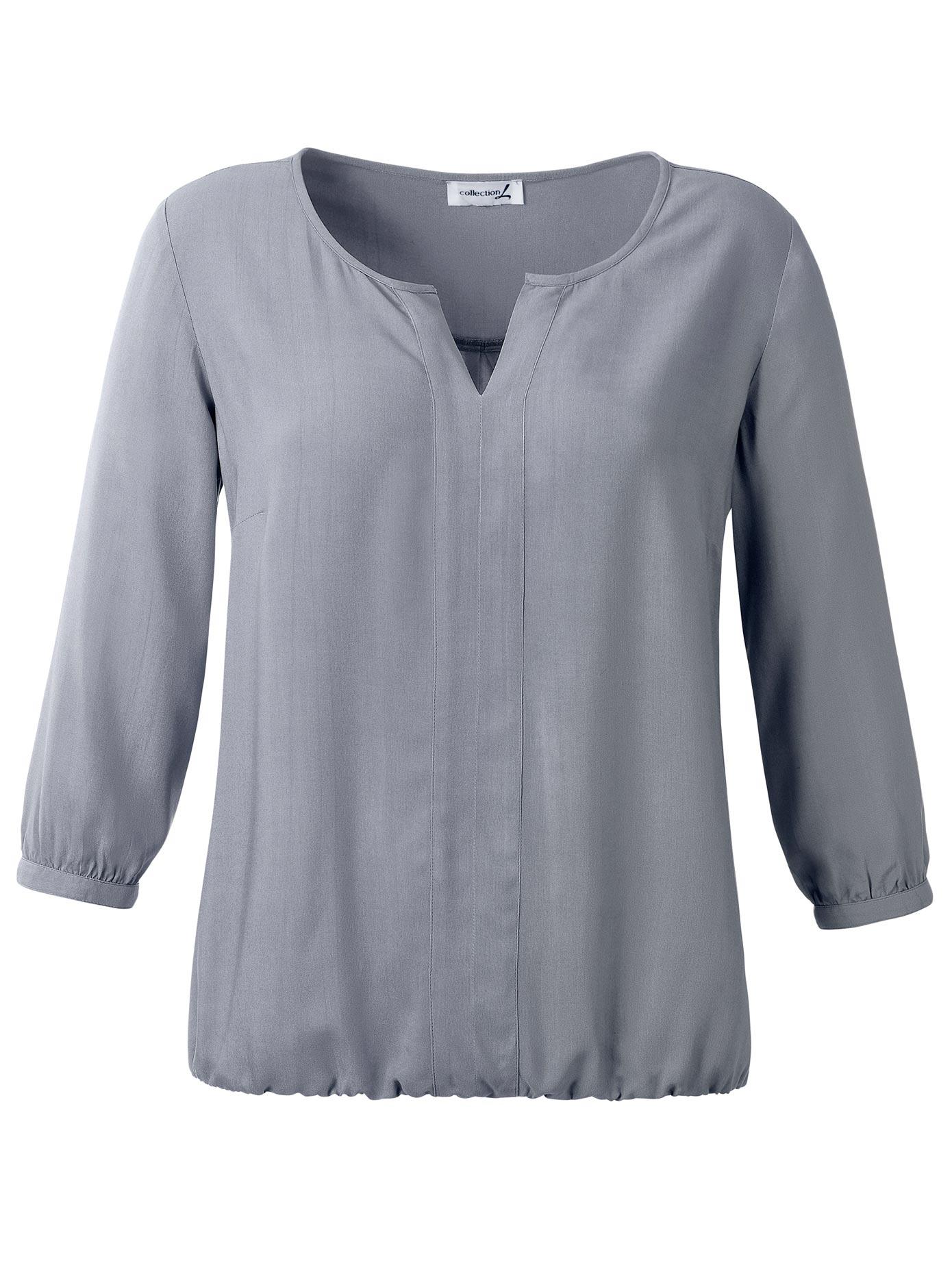 Casual Looks Bluse mit Gummizug am Saum Damenmode/Bekleidung/Blusen & Tuniken/Blusen/3/4 arm Blusen