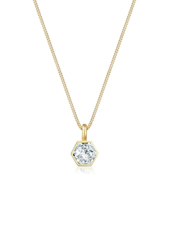Elli Collierkettchen »Anhänger Sechseck Kristall 925 Silber« kaufen