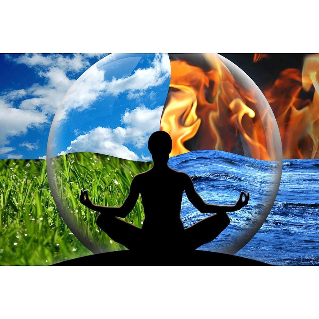 Papermoon Fototapete »Wasser Feuer Erde Luft«, Vliestapete, hochwertiger Digitaldruck