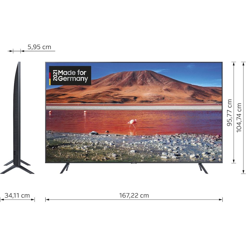 """Samsung LED-Fernseher »GU75TU7199U«, 189 cm/75 """", 4K Ultra HD, Smart-TV, Crystal UHD"""