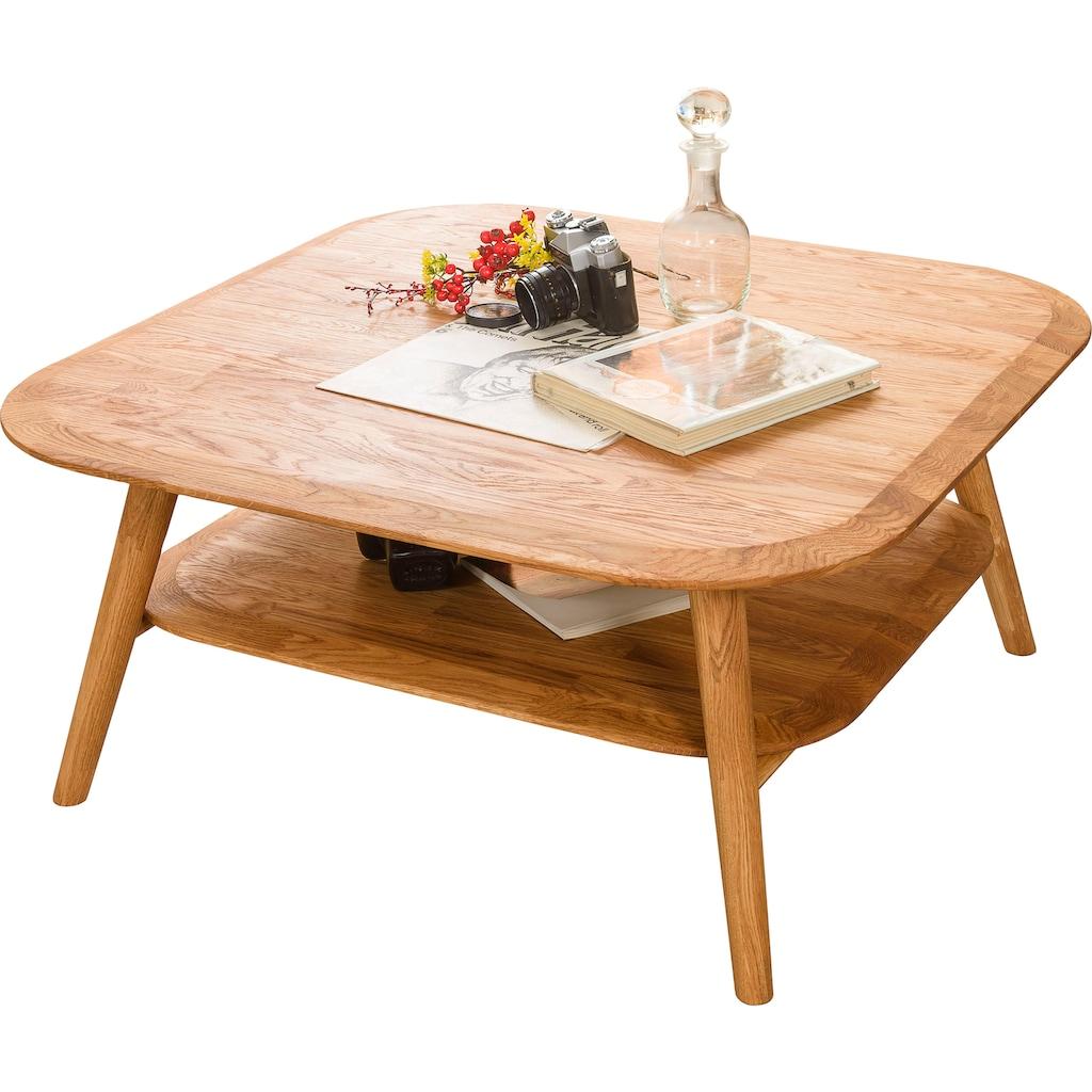 andas Couchtisch »Scandi«, aus schönem massivem Eichenholz, mit einer pflegeleichten Oberfläche, Breite 90 cm