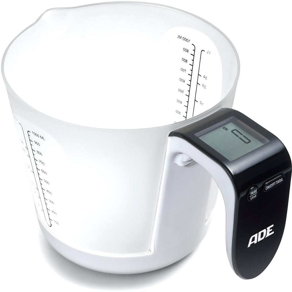 ADE Küchenwaage »KE-919 Franca«, Messbecher-Waage mit Display im Griff, abnehmbarer Messbecher mit 1 Liter Fassungsvermögen