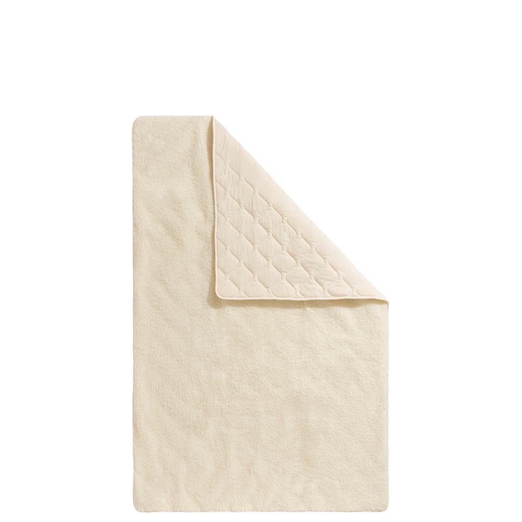 f.a.n. Schlafkomfort Naturhaarbettdecke »Lammflor«, warm, Füllung 97% Wolle, 3% sonstige Fasern, Bezug Oberseite: 100% Wolle, Unterseite: 100% Baumwolle, (1 St.), hohe klimaregulierende Wirkung