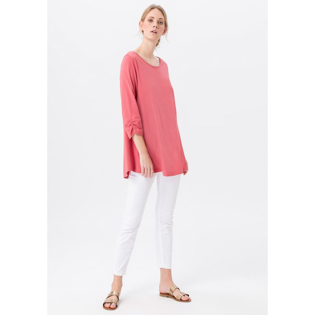 Green Cotton 3/4-Arm-Shirt »Longshirt«, .