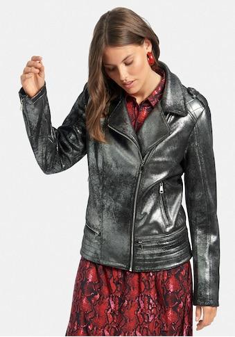 Emilia Lay Outdoorjacke »Biker-Jacke«, in Glanz-Optik kaufen