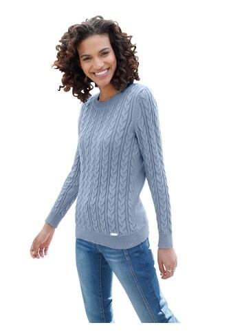 Pullover im aufwändigen Zopfmuster vorne und an den Ärmeln kaufen