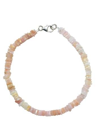 Firetti Armband »Eckiger Steinstrang, 4 mm breit, schimmernd«, mit Opal, Made in Germany kaufen